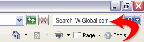 Add Domain search in web browser